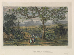 'The Ghats from Byghur'. Plate 2 from Eight Most Splendid Views of India, sketched by an Officer in the Indian Army, drawn and printed by Baron A Friedel, London, 1833